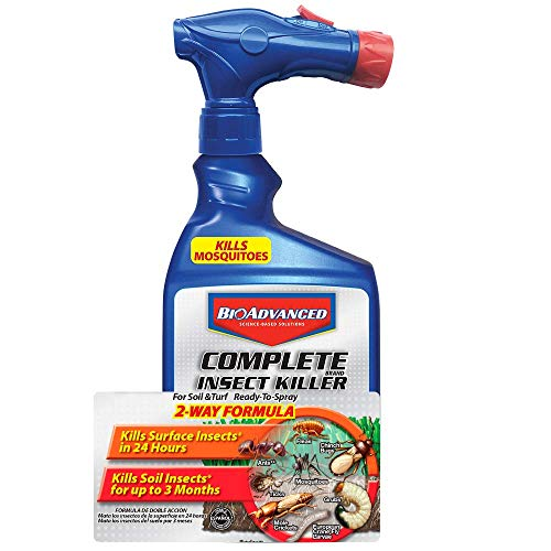BioAdvanced 700280B Complete Insect Killer for Soil & Turf, Lawn and Yard Bug Killer, Ready-to-Spray, 32-Ounce