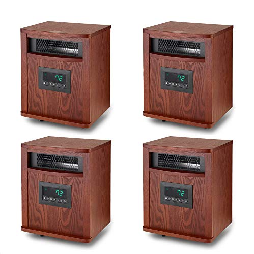 Sale!! Lifesmart 6 Element 1500W Portable Infrared Quartz Mica Space Heater (4 Pack)