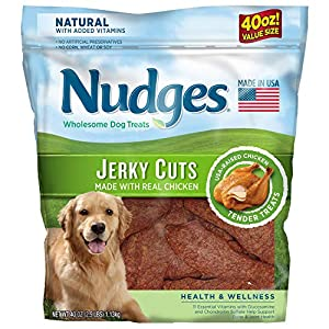 Nudges Health and Wellness Chicken Jerky Dog Treats, 40 oz (2 Packs)