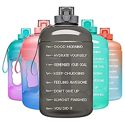 Amazon - 50% Off on arge 128oz Leakproof BPA Free Fitness Water Bottle with Motivational Time