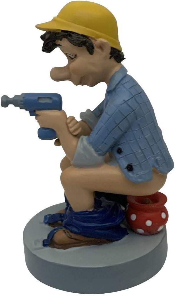 Caganer figura artesana con orinal y divertidas cunas y figuras de decoración