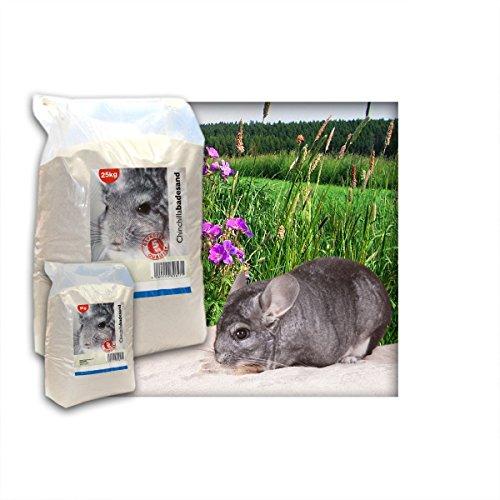 Kieskönig 5 kg Premium Chinchilla Badesand Chinchillasand - Made in Germany - samtweiche abgerundete Körnung