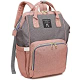Diaper Bag Backpack, Mooedcoe 7 Gallon Spacious 15 Pockets for Easy Organizing Waterproof Travel Backpack, Maternity Nappy Baby Bag Neutral for Mom & Dad