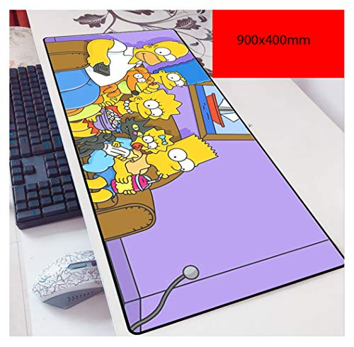 NBPRO XXL Alfombrilla Mouse Pad para Ordenador,Lavable,Antideslizante,Superficie Blanda,para Gamers Ordenador, PC y Laptop Simpsons-2