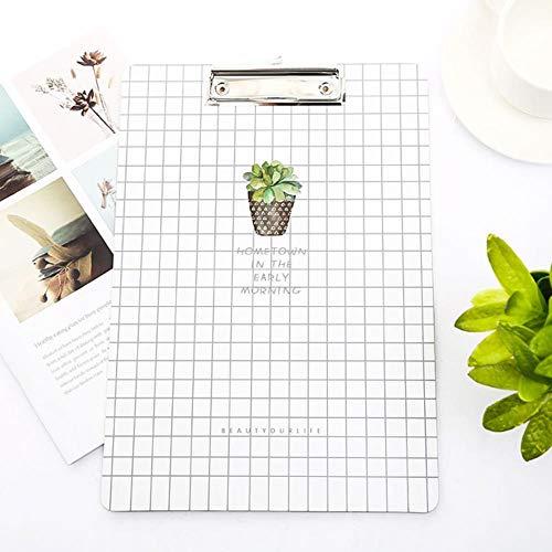 Heng Cactus Klembord Hout Leuk Schrijfblok Examen Klembord Kantoor School Levering Ding Item Map Papieren Bureau, wit 1 stks