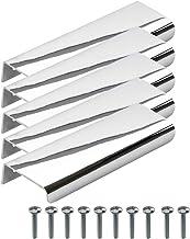 """Beslag Design - 5 stuks meubelgreep greep """"Lip"""" chroom gepolijst - 120 mm, gatafstand 80 mm - kastgreep profielgreep randg..."""
