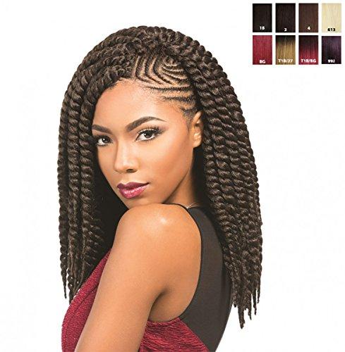 Sensationnel African Collection – Rumba Twist 12'' 30 cm Cheveux synthétiques élégants Couleur : T1B/Silver (ombre SW/Argent)
