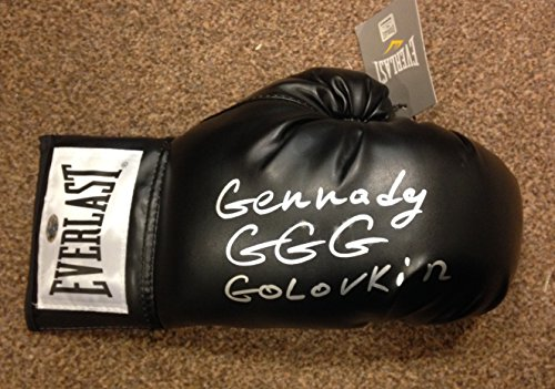 Gold Stern, GGG Gennady Golovkin Boxhandschuh, Hunde-Authentics Autogramm