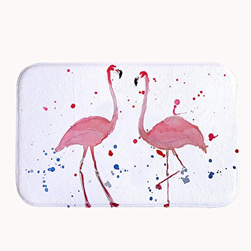 rioengnakg ein Paar Flamingo Liebhaber Badteppich Coral Fleece Bereich Teppich Fußmatte Eingang Teppich Fußmatten für Vorderseite Außen Türen Eintrag Teppich, Korallenvlies, 20