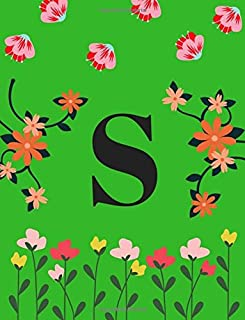 S: Monogram Initial S Notebook for Women, Girls 8.5 x 11 Inch Volume 3
