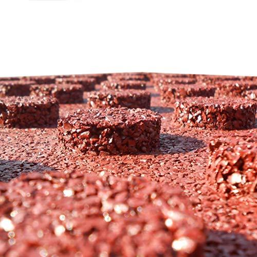 vidaXL 6x Fallschutzmatten Gummi Rot Fallschutzplatten Bodenmatten Spielplatz - 2