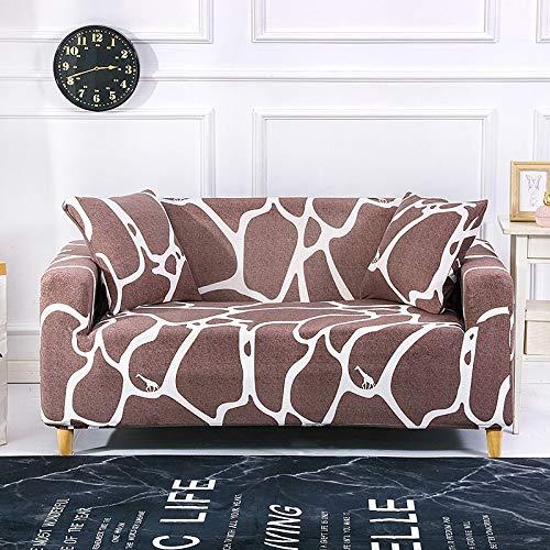ASCV Funda de sofá Strecth con Estampado Floral Fundas de sofá de geometría elástica para Sala de Estar Fundas para sillón Funda de sofá A7 3 plazas