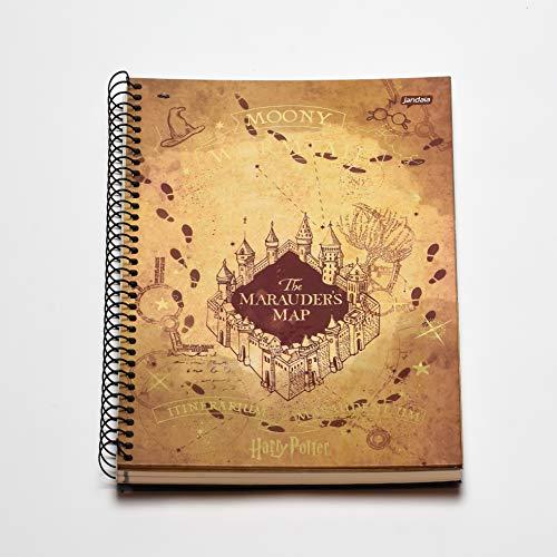 Caderno Espiral Capa Dura Universitário 1 Matéria Harry Potter Hogwarts FSC 96 Folhas, jandaia