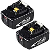 2Packs Upgraded 6.0Ah BL1860B Replacement for 18V Battery Lithium-ion Compatible with Makita 18 Volt Battery BL1860 BL1850 BL1845 BL1840 BL1830 BL1820 BL1815 LXT400 194204-1