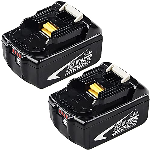 2Packs Upgraded 6.0Ah 18V BL1860B Replacement...