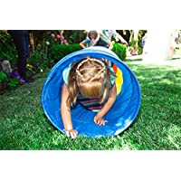 Pacific Play Tents Kids Find Me Multi Color 6 Foot Crawl Tunnel - Red, Yellow & Blue 17