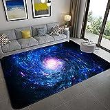 Stillshine. Alfombra Infantil 3D Cielo Estrellado Universo Estrella Galaxia Remolino Patrón Alfombra de Sala Dormitorio Decoración Niña Niño Adulto Antideslizante Alfombra (Color 1,120×160 cm)