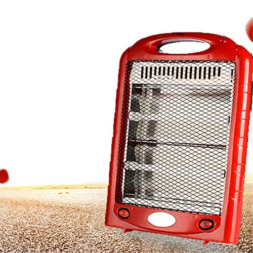 GCP Portable mini electric heater hand held winter heater radiant quartz electric heater for office bedroom, red, 220V