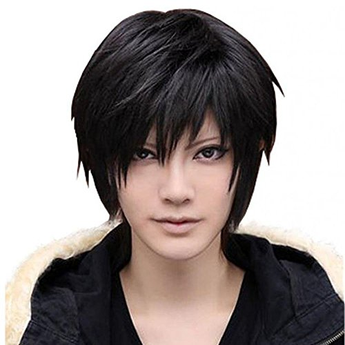 iLoveCos Holloween Costumes Wigs for Men Black Short Cosplay Wig Death NOTE