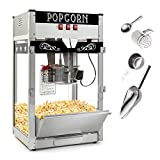 6. Olde Midway Commercial Popcorn Machine Maker Popper with Large 12-Ounce Kettle - Black