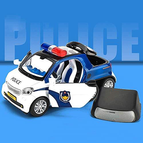 SXLCKJ Camioneta de 6 Ruedas Modelo de Coche de policía Aleación Vehículo Todoterreno Coche de Juguete para niños Coche de Juguete de Metal para niños Regalo de cumpleaños Pol (Coche Inteligente)
