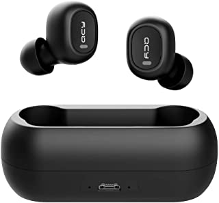 Wireless Earbuds, QCY Wireless Bluetooth Earbuds 5.0 3D Stereo Sound True Wireless Headphones with Built-in Microphone, Instant Pairing Earphones with Portable Charging Case for iPhone Android