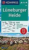 KOMPASS Wanderkarte Lüneburger Heide, 718: 4in1 Wanderkarte 1:50000 mit Aktiv Guide und Detailkarten inklusive Karte zur offline Verwendung in der ... Reiten. (KOMPASS-Wanderkarten, Band 718)