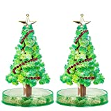 Starhig 2 PCS Magic Growing Crystal Christmas Tree,Presents Novelty Kit for Kids Funny Educational and Party Toys, DIY Xmas Ornaments