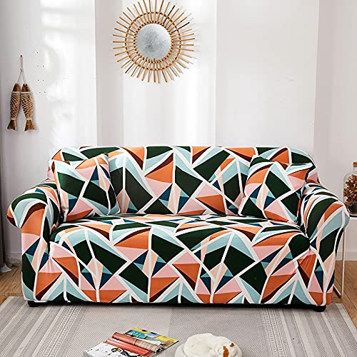 WXQY Funda de sofá elástica geométrica Moderna, combinación de sofá, Silla, Sala de Estar, Esquina en Forma de L, sofá para Mascotas, Funda Protectora A13, 1 Plaza