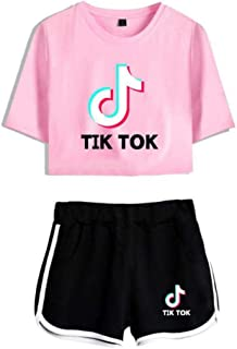 TIK TOK girl nine points top + shorts suit, sports yoga clothes, T-shirt running sportswear and summer short-sleeved sportswear