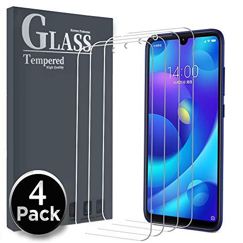 Gehärtetes Glas Gehärtetes Glas für Xiaomi Mi Play, [4 Pack] Schutzfilm Tempered Glass Screen Protector Displayschutzfolie mit Ersatzgarantie für gehärtetes Glas Xiaomi Mi Play