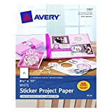 Avery 03383 8-1/2' X 11' Ink Jet Sticker Project Paper 15 Count (Pack of 2)