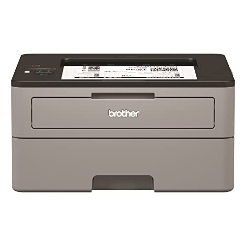 Brother HLL2350DW - Impresora láser monocromo con Wifi y dúplex (30 ppm, USB 2.0, Wifi Direct, procesador de 600 MHz, memoria de 64 MB) gris