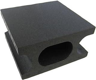 スチロールブロックハーフ ブラック W100×H190×D190