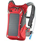 Outdoor Bag,Solar Panel Backpack 2L Hydration Bag Removable Sun powered Emergency USB