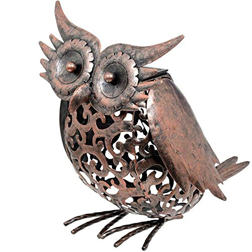 Smart Garden Solar Owl Bird Silhouette Light Garden LED Light Figure Ornament