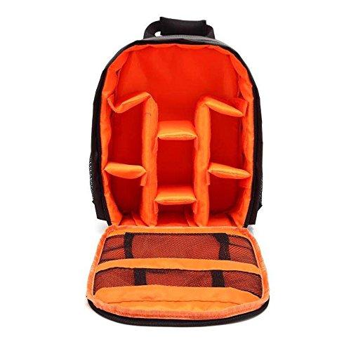 Docooler Kameratasche, DSLR-Kamerarucksack, Wasserdichte Fotorucksack, Atmungsaktive Multifunktionale Kamera Lagerung Tasche, Stoßfest Reißfest Digitalkamera Rucksack Freizeit Taschen