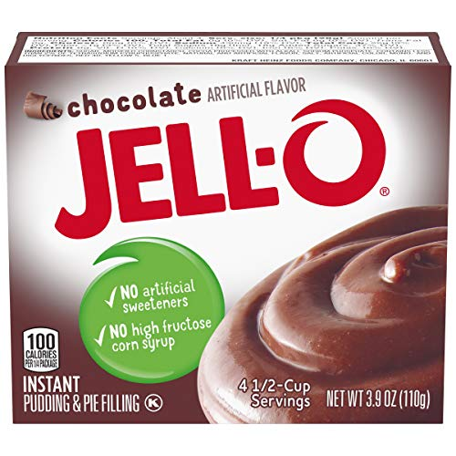 JELLO Instant Chocolate Pudding Mix (3.9oz Boxes, Pack of 24)