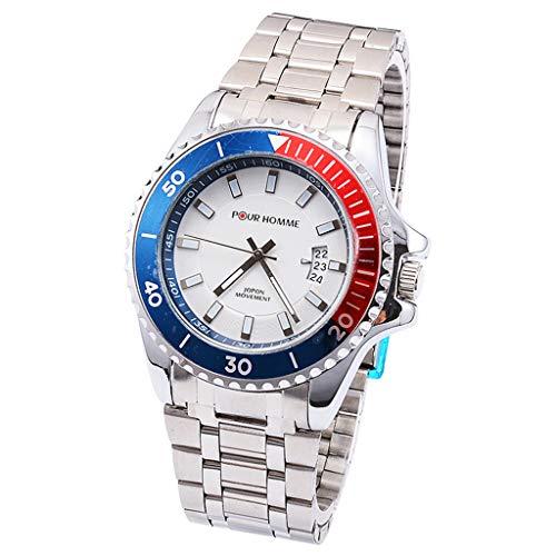 WDFVGEE - Reloj de pulsera de cuarzo para hombre con calendario, minimalista, para negocios, casual, embellece tu vida