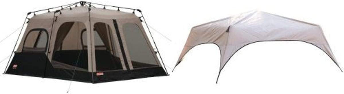 Coleman 8-Person Instant Tent (14'x10') and Coleman 8-Person Instant Tent Rainfly Accessory Bundle