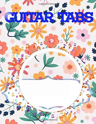 "Guitar Tablature Notebook: Bass Guitar Tablature Manuscript Notebook Size 8.5x11"" ~ Tablature - Play # Easy ~ Matte Cover Design Cream Paper Sheet 112 Pages Good Prints."