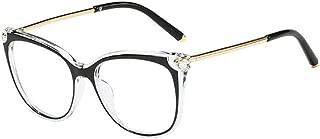 Inlefen Men's and women's Optical glasses Retro classic Transparent lens glasses