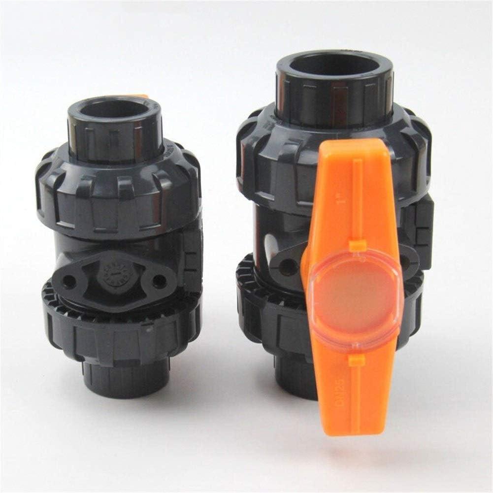 Tube Connector 1pc 20mm 25mm 32mm 40mm 50mm PVC Ball Valve Union Valve PVC Water PVC Pipe Connector Plumbing Hose Fittings Slip Shut Valve Drip Irrigation Fittings Kit Specification : Inner 75mm