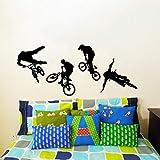 Kühle Fahrrad Radfahrer BMX Sport Wandtattoos Vinyl