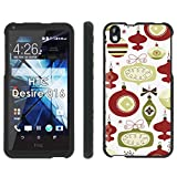 HTC Desire 816 Phone Cover, Happy Holidays - Mobiflare Black Slim Guard Armor Phone Case for HTC Desire 816