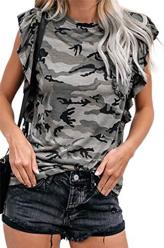 SLYZ Señoras Primavera Y Verano Nueva Camiseta De Manga Corta con Estampado De Leopardo Mujer Suelta Delgada Cuello Redondo Camiseta De Mujer Tops
