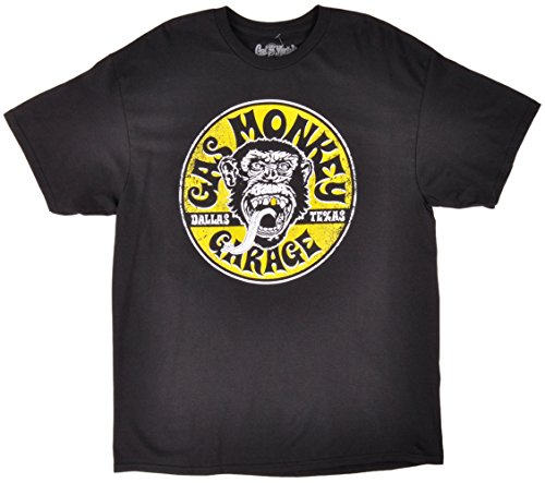 Gas Monkey Garage Equipped Gold Tooth Logo T-Shirt - Black (XXXX-Large) Shops T-Shirts