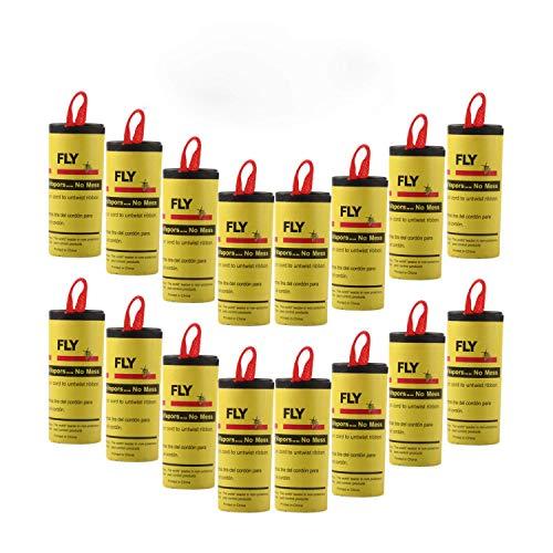 Ram® Lot de 20 Mouches adhésives en Papier sans Pesticide pour Une Utilisation en intérieur ou en Serre