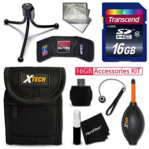 Ideal 16GB Accessories KIT for Sony Cyber-Shot DSC-WX500, HX90V, WX350, WX300, HX50V, HX300, RX1, RX1R, RX100, RX100 II, RX100M II, RX100 III, RX100M3 Includes: 16GB Memory Card + Fitted Case + More