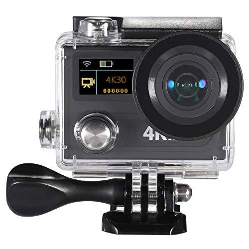 """WIFI Sport Action Camera 2\"""" dello schermo a cristalli liquidi a doppia 360 VR Gioca 4K a 30 fps 1080p 60fps 12MP Ultra HD 170 ° grandangolare 30M impermeabile della camma DVR FPV Video Sport Action ca"""